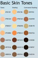 Skin Tone List by CelProjects