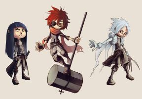 D.Gray-Man chibis by Ravna-Resta
