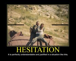Hesitation Motivational Poster by QuantumInnovator