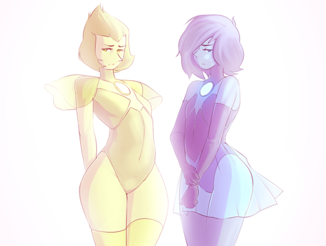 Steven Universe - Blue and Yellow Pearl by Lucaslikesdrawing