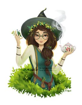 Herbalist witch by Movezerb