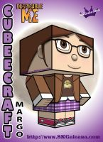 Despicable Me Margo Cubeecraft 3D by SKGaleana by SKGaleana