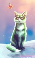 THE GREEN FOX by CharlyChive