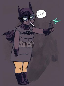 Chubby Hipster Batgirl by Nate Bellegarde by whoisrico