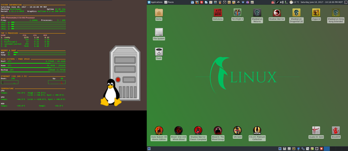 June 2017 Desktop - Arch Linux and Xfce by hamishpaulwilson