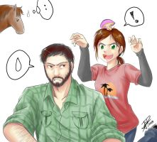 Ellie and Joel - The Last of Us by AyaYanagisawa