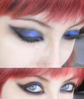 make-up blue and black by Dead-Rose-16