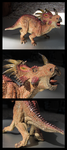 Papo - Styracosaurus Model by The-Toy-Chest