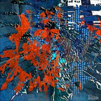 AB2015-259 Red-Blue Abstract by Xantipa2