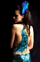 peacock body paint by alanaMUA