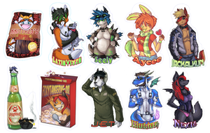 :: AC08 Badges Set 1 :: by IvyBeth