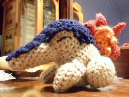 Amigurumi Cyndaquil I, with link to pattern by denisekaylee