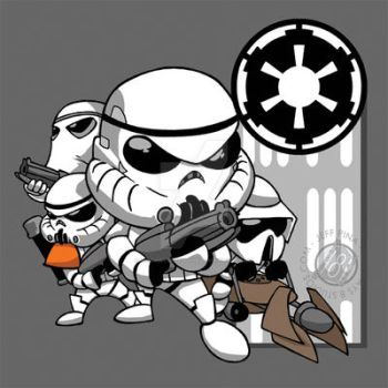 Star Wars Chibi Stormtroopers by Sideways8Studios