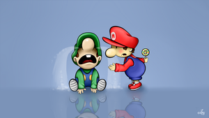 Li'l Mario and Luigi: You can have it after dinner by Lucky-Jacky