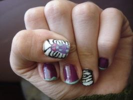 Butterfree Nails by Camilicks