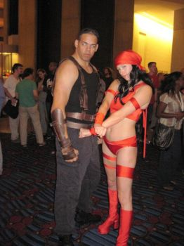 Riddick And Electra by GiantAlucard