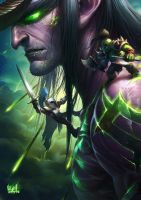 Glance of Illidan by shawnfox520