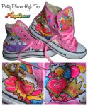 Pretty Princess High Tops by marywinkler