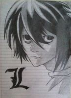 L Death Note by EvangelineDaring