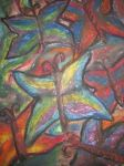 Oil pastel butterflies by creativeserenity87