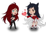 Kat and Ahri by sunnyrays