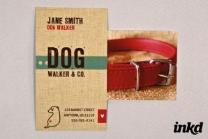 Dog Walking Business Card by inkddesign