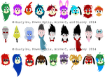 Toontown Story Characters by LittleTaffy