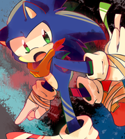 LOOK IT'S SONIC by MisterCakerz