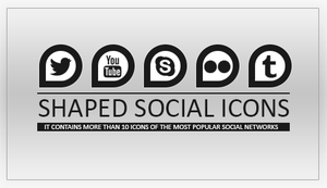 Shaped Social Icons by DontCallMeEve