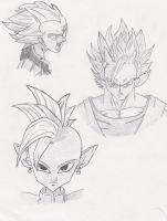 Goku + Vegeta ssj Supreme Kai by Barbicanboy