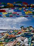 Tibetan prayer flags. by kiTrout