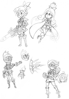 FH: Gamma Squad Doodles by The-Knick