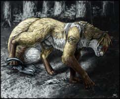 Into the Darkness (Feral Werefox TF) by LightningTheFox7
