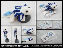 Lotllove Plush Magnet and Tags by Tylon
