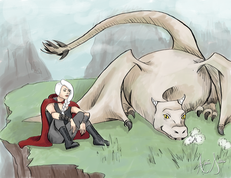 Manon and Abraxos by whoevenknowsman