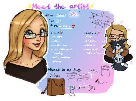 Meet the artist by isawic