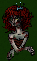 Zombie Princess with blood by HarvesterofPearls