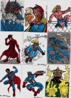 COMIC SKETCH CARDS IN COLOR 2 by shawncomicart