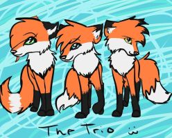 The Hunting Trio by wolf-drawer-kayla
