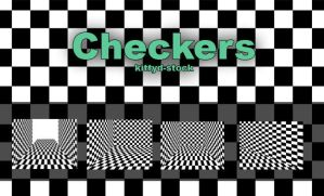 Checkers by Kittyd-Stock