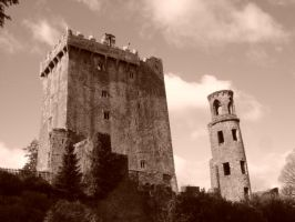 blarney castle sepia by csclements