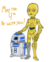 Robots of May: R2D2 and C-3PO by Montatora-501