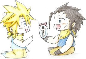 Baby Zack and Cloud by Sora-to-Kuraudo