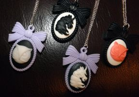 Handmade Resin Pastel Goth Cameos! by LookAliveHolly