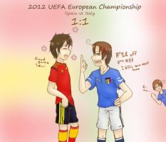 2012 UEFA European Match up: Spain vs Italy by Shewen