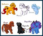 Galactica Ponies by Galaxia
