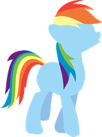 Minimalistic version of Rainbow Dash Wink by Fragin
