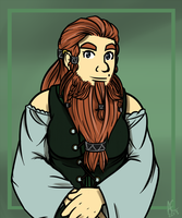 The Rust-Bearded Lass by andalsopineapples