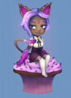 Rock Candy Cupcake Gal by Seanoin