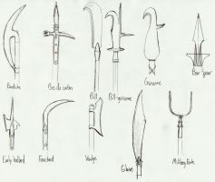 KQ Polearm Sketches by Washu-kun